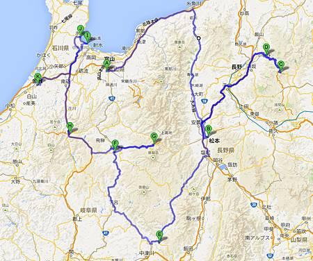2013日本中部路線圖