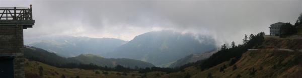 02.10合歡山莊前觀景台全景
