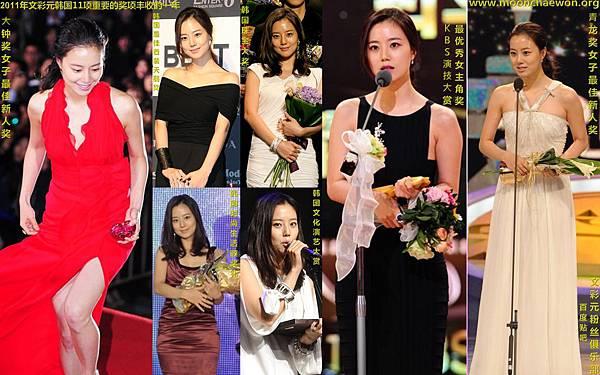 2011年文彩元領11個獎項