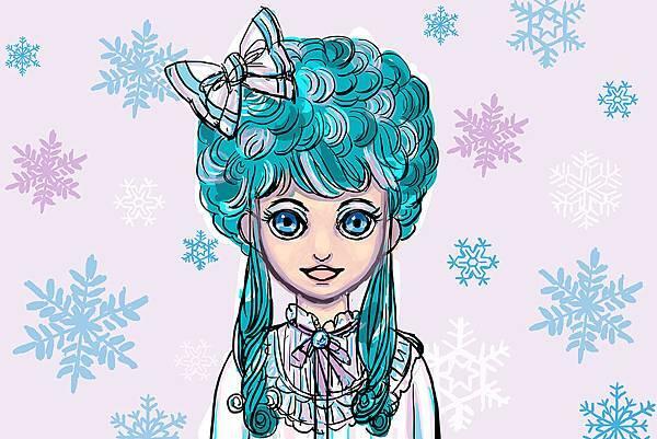 winter magic 電繪草圖
