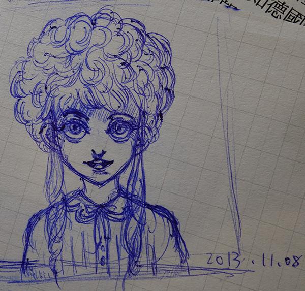 winter magic 手繪草圖