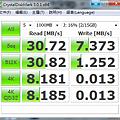 SONY 16G Micro Vault ™ 麥克碟 - 高速版 (USM16GLX) CrystalDiskMark