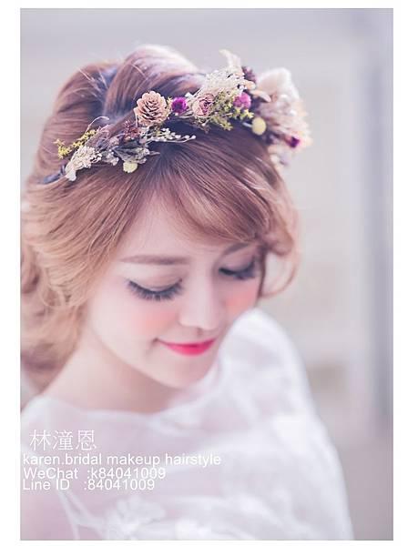 2017年 新娘造型 日式風格 乾燥花圈