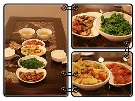 桂月村的四菜一湯(晚餐)