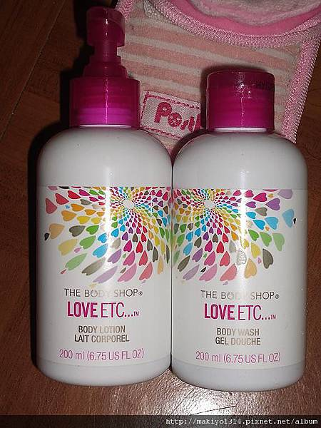 THE BODY SHOP ~LOVE ETC 愛的沐浴膠 +潤膚乳.JPG