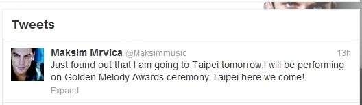 The Official Maksim Twitter Tweets - Taipei here we come!