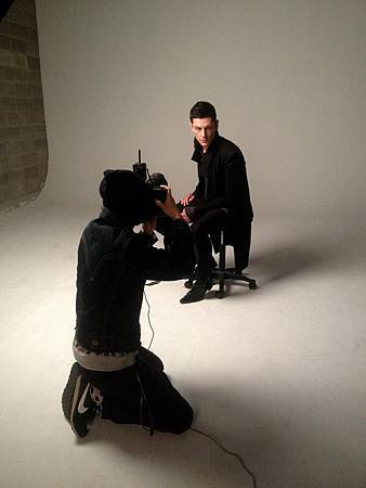 Maksim doing the photoshoot for the largest man's fashion magazine Arena Homme in Seoul, South Korea-01