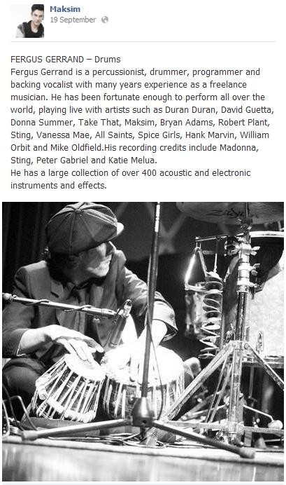 2013.09.19 - FERGUS GERRAND – Drums