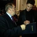 London Concert 2013 - 08 - Maksim with Croatian Ambassador after the show
