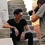 Maksim doing interview and the photoshoot for Story magazine Sibenik, Croatia-01