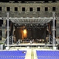 Rehearsing for the show in Arena Pula-01