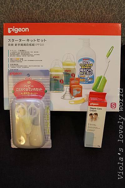 小寶貝的奶瓶用具組和媽咪的貝親羊脂膏.jpg