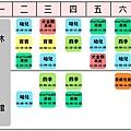 2014年7月份課表