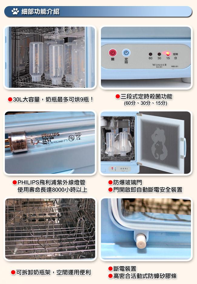 紫外線專業級殺菌奶瓶烘碗機-2