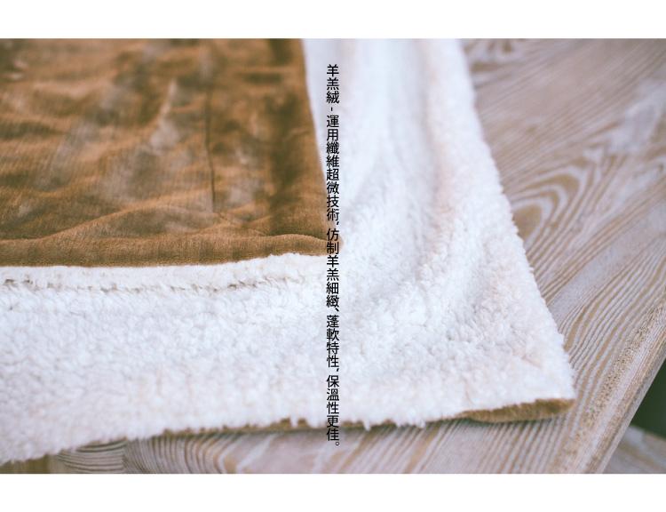 羊羔絨細纖超柔暖毯-1