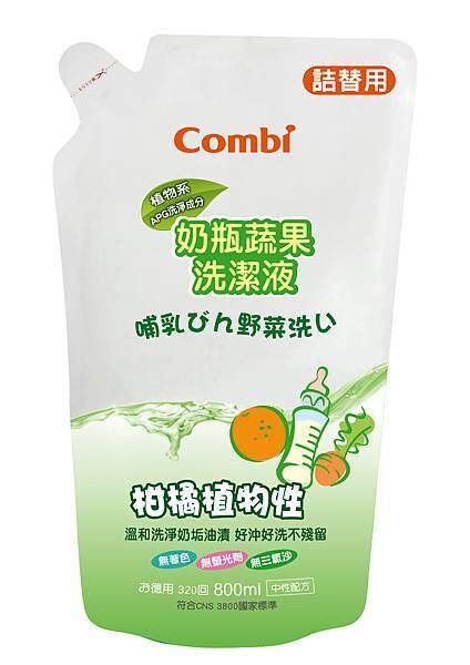 81110奶瓶蔬果洗潔液補充包800ml 4895030311105
