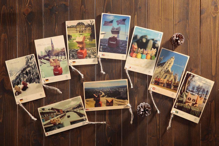 木製明信片照片