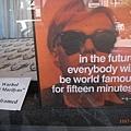 因為看見了Andy Warhol而停留,非常喜歡他呢