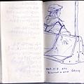 小胖送了我一本小書,我帶著它在紐約的地鐵上畫我看見的人,於是,這成了我記錄紐約的另一種方式