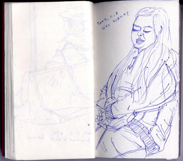 這是一個很胖的女人,她熟睡的樣子令我看得入神,我常畫睡著的人,因為我只會畫靜止的