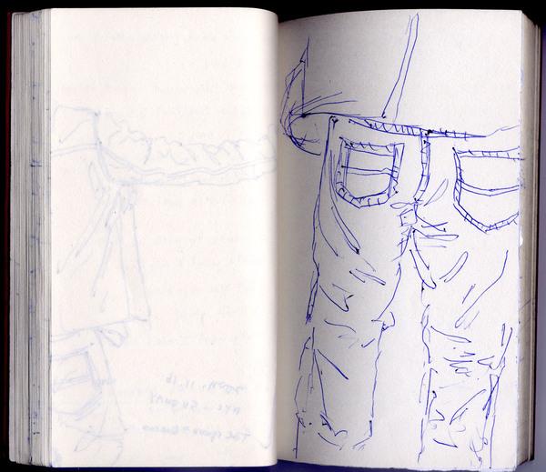 褲子上,我喜歡這些數不盡的小縐褶