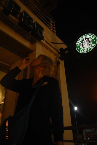 到了澎湖的夜玩還是想念Starbucks的陪伴