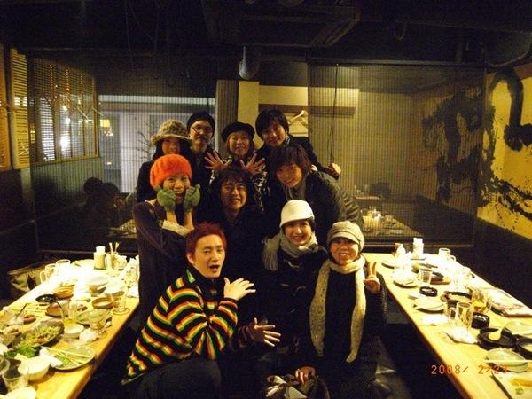 和我們在日本的好友們YMCK,The Aprils宵夜