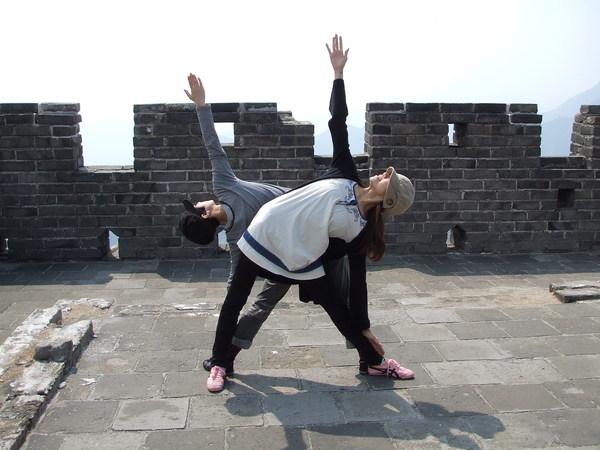 或者在長城上做瑜珈