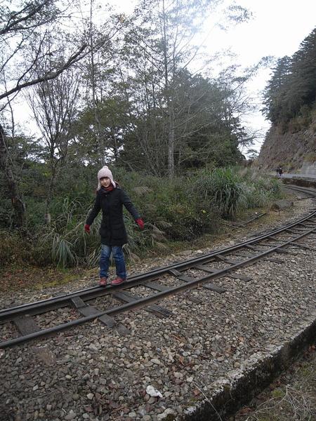 我們想沿著鐵軌回去