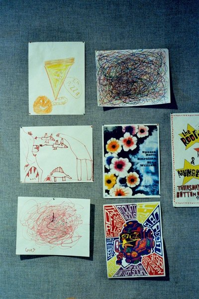 舊金山錄音室的牆上掛著許多錄音師Eli小孩的畫