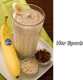 [DIY]快速補充能量-香蕉燕麥冰沙-Her Sport.