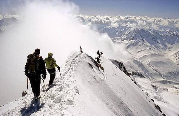 Ridge walk, Mont Dolent, Val Ferret, Switzerland