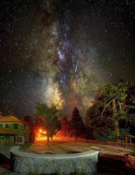 Galaxy Sky - The Milky Way and Shooting Star, Troodos Square, Cyprus