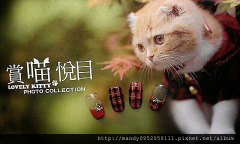 秋冬新款~為指甲穿上格子衣