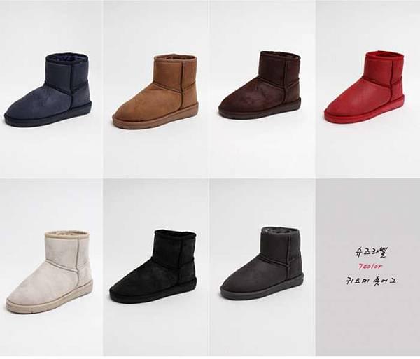 爆裂紋低筒雪靴-20000-1380