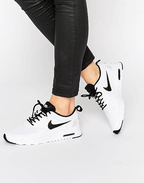 Nike White %26; Black Air Max Thea Trainers-1.jpg
