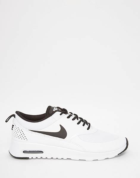 Nike White %26; Black Air Max Thea Trainers-2.jpg
