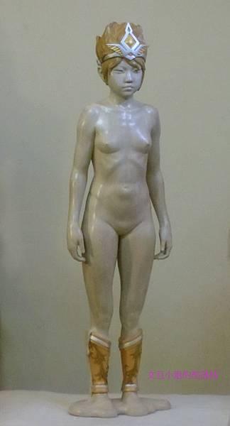 詹志評的木雕作品 ~ 超異能少女