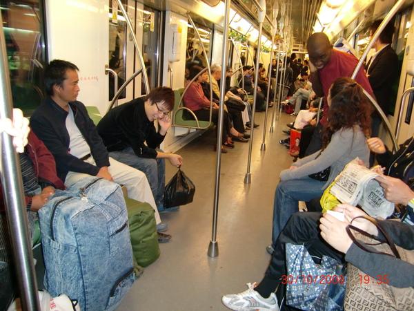 上海的地鐵車廂