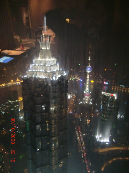 From Pudong Park Hyatt 影的 Pudong Grand Hyatt 夜景