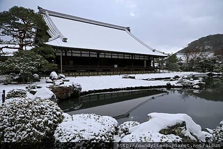 天龍寺の雪化粧