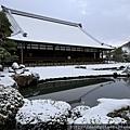天龍寺的雪景