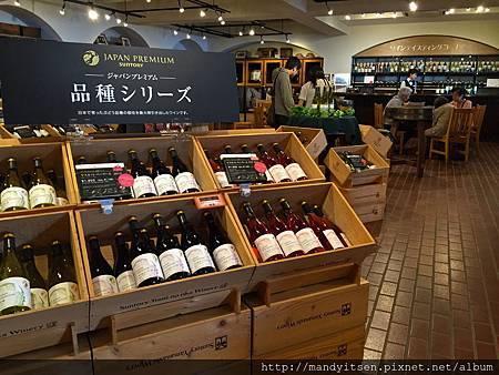 suntory登美之丘酒品販售區