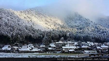 美山町雪景