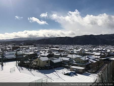 今日京都的雪景色