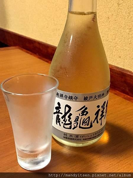 在南禪寺「順正」吃湯豆腐的佐餐酒