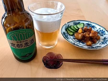 口感清爽順暢的京都麥酒