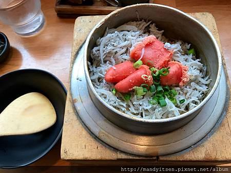 しらすたらこ(小魚鱈子)釜飯