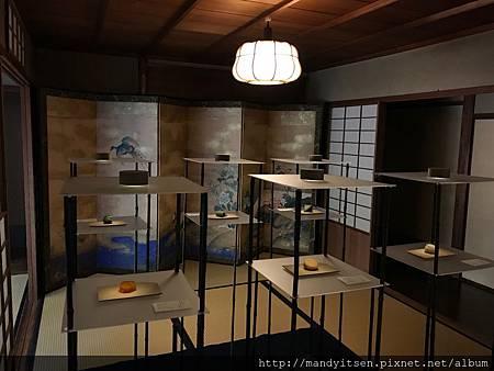 2017京菓子展的展示空間一隅