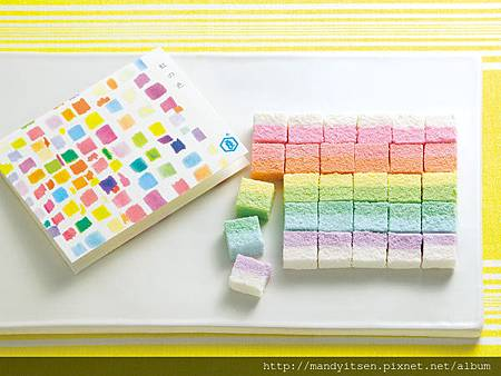 彩虹意象的乾菓子「虹の色」